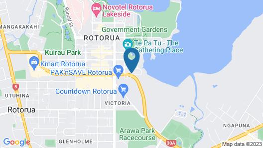 Sudima Lake Rotorua Map