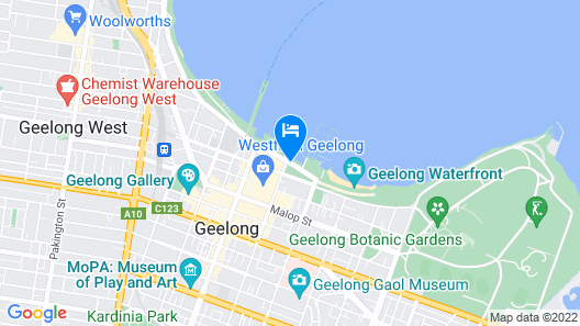 The Waterfront Apartments, Geelong Map