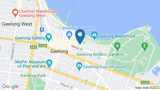 R Hotel Geelong Map