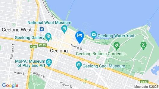 R Hotel Geelong Map