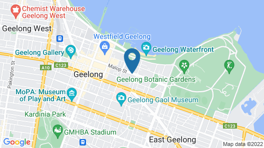 Bay City(Geelong) Motel Map