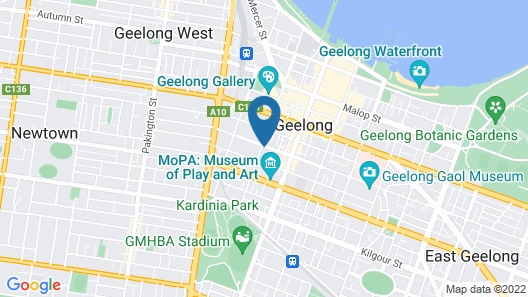 Rydges Geelong Map