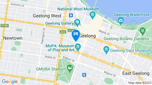 Rydges Geelong Map