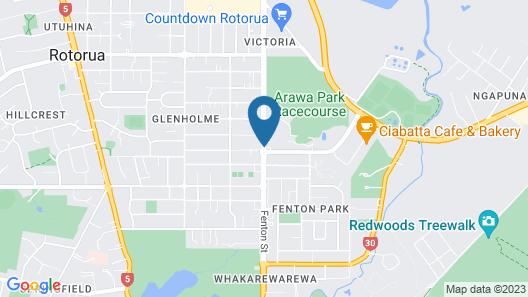 Arista of Rotorua Map