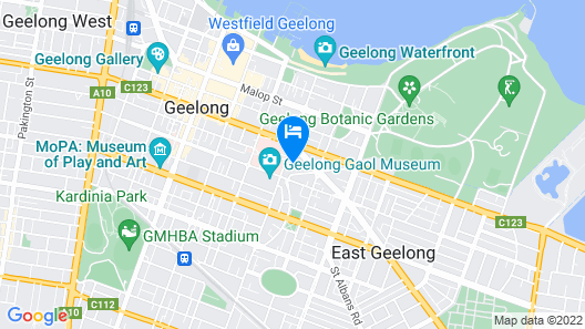 Geelong CBD Accommodation Map
