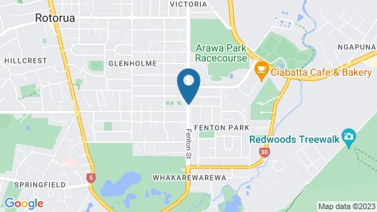 Silver Fern Accommodation & Spa Map