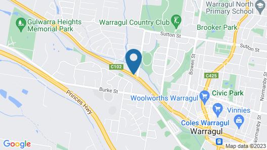 Comfort Inn & Suites Warragul Map