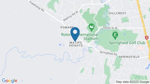 Rotorua Views BnB and Apartment Map
