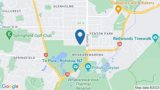 Luxury Golf-Side Lodge K Lodge Rotorua Map