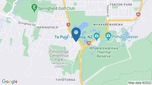 Rotorua Thermal Holiday Park Map