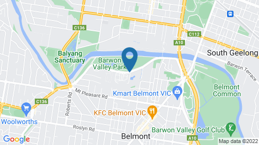 Barwon Valley Lodge Map