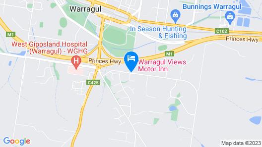 Warragul Views Motor Inn Map