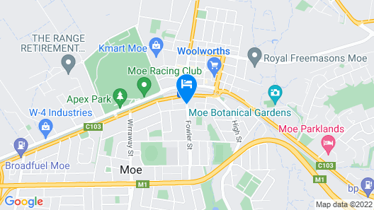 Moe Motor Inn - Contactless 24 hour Checkinn Available Map