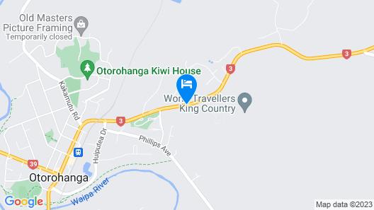 Otorohanga & Waitomo Motels Map