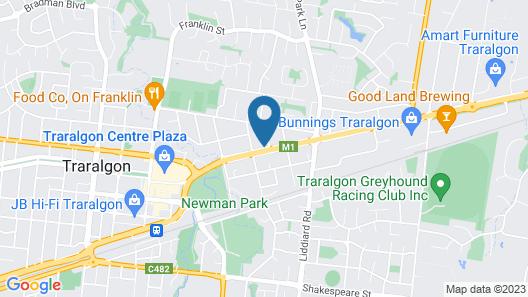 City Gardens Motel Traralgon Map