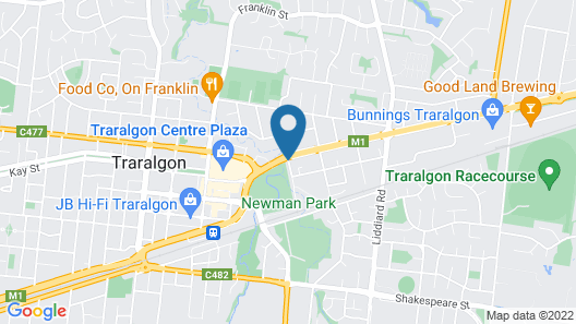 Traralgon Serviced Apartments Map