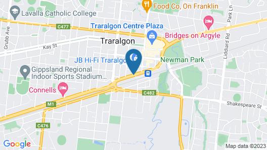 Comfort Inn Traralgon Map