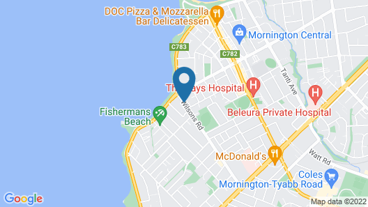 Mornington Bed and Breakfast Map