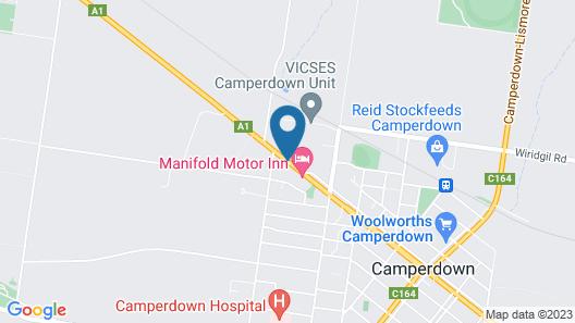 Camperdown Cascade Motel Map