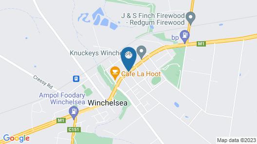 Winchelsea Motel Map