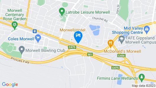 Morwell Hotel Map