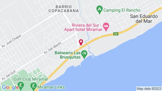 Apart Hotel Las Brusquitas Map