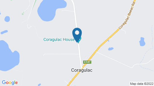 Coragulac House Cottages Map