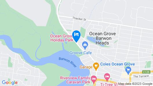 Ocean Grove Holiday Park Map