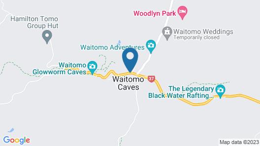 Waitomo Top 10 Holiday Park Map