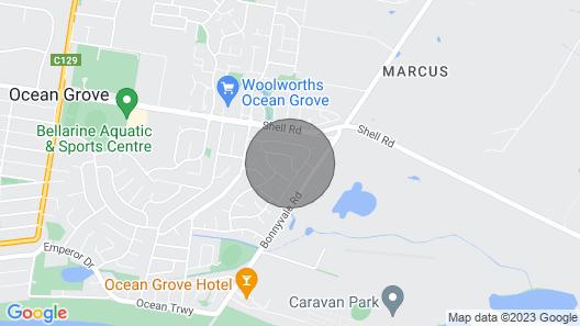 Beach Getaway Ocean Grove 1 Bedroom Self Contained Unitx Map
