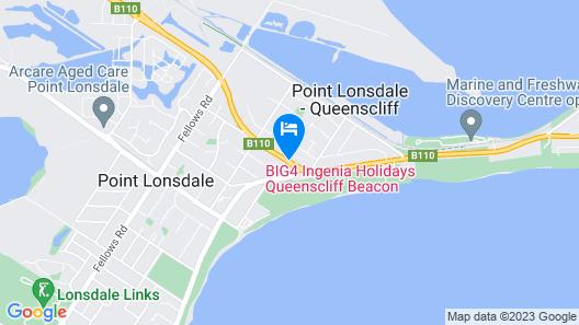 BIG4 Queenscliff Beacon Resort Map