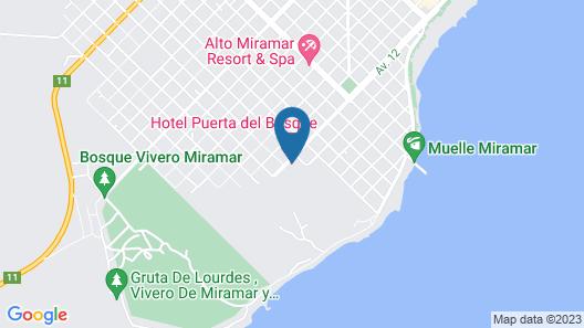 Hotel Puerta del Bosque Map