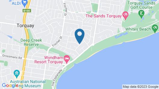 TORQUAY Family Home Close to Beach & Shops Map