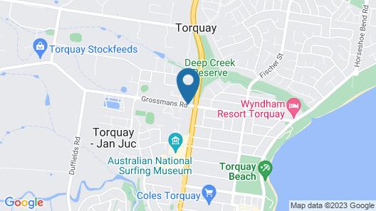 Torquay Tropicana Motel Map