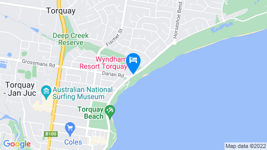Beachfront Resort Torquay Map
