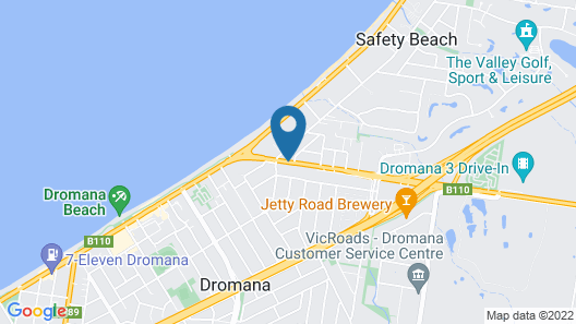 Bay Motel Safety Beach Map