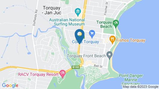 Bells Beach Backpackers Map