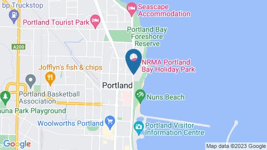 NRMA Portland Bay Holiday Park Map
