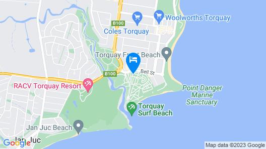 Torquay Foreshore Caravan Park Map