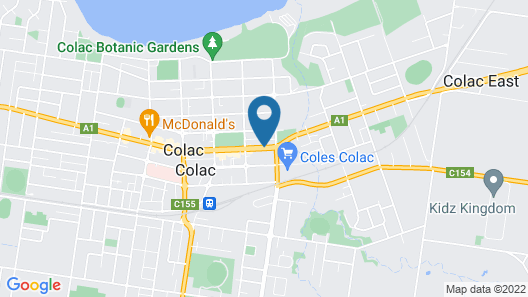 Colac Central Hotel-Motel Map