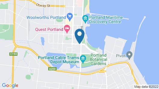 Econo Lodge Portland Map