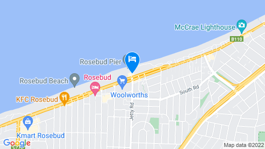 Blue Waters on the Beach Map