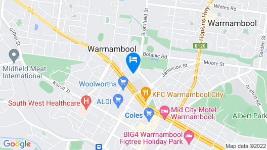 Botanic Apartments, Warrnambool Map