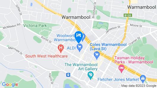 Warrnambool Holiday Village Map