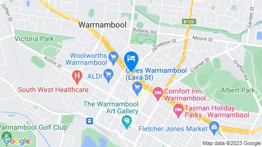 Downtown Motel Warrnambool Map