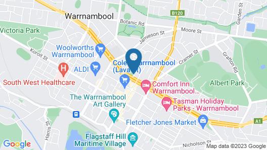 City Heart Motel Map