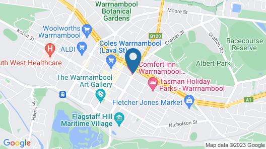Comfort Inn Warrnambool International Map
