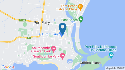Central Motel Port Fairy Map