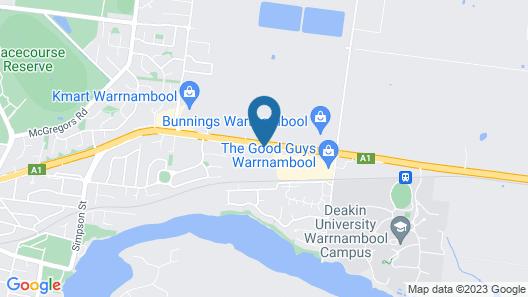 Gateway Motor Inn Warrnambool Map
