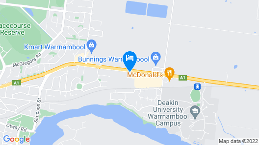 Motel Warrnambool Map